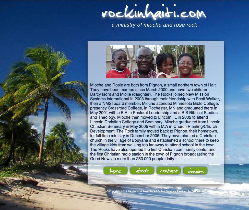 Pignon, Haiti - Mioche and Rosie Rock Missionaries